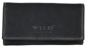 Dark Grey Natural Genuine Leather Wallet Wild Tiger