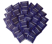 Lifestyles Extra Strength Lubricated Latex Condoms with Silver Pocket/Travel Case-24 Count