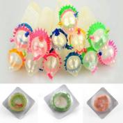 Adult Sensitive Orgasm Latex Condoms Dotted Ribbed Stimulate Vaginal 10 Pcs