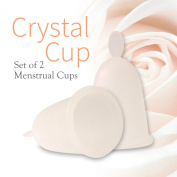 Crystal Menstrual Cup Set of 2