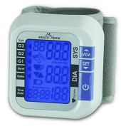 Easy@Home Digital Wrist Blood Pressure Monitor with Heart Beat / Pulse Metre function - Top Selling FDA-approved For OTC use Blood Pressure Monitor (BP Monitor) - Carry Case and Battery are included| Backlit Large Display, 5 Level Blood pressure classi ..