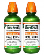 TheraBreath Dentist Recommended Fresh Breath Oral Rinse - Mild Mint Flavour, 470ml