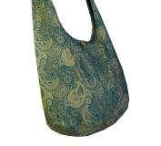 BTP Hippie Hobo Paisley Sling Crossbody Bag Purse Messenger Cotton Handmade Gift XL