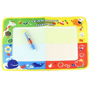 46 X 30cm Kids Children Drawing Toys Mat Water Magic Writing Cloth Magic Water Blanket Canvas Baby Play Mat