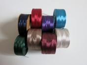 Nymo Nylon Seed Bead Thread Size 00 (8 Bobins 220 Yards Each) 0.006 Inch 0.15mm, Mixed Colours