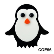 COE96 Fusible Precut Glass Penguin - Penny