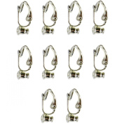 Evelots Silvertoned 10 Piece Clip-On-Earring Converter - Turn Any Post or Stud