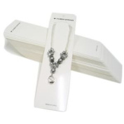 100 pcs White 'Fashion Jewellery' Necklace Card