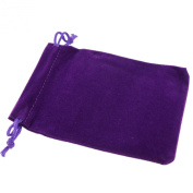 Pack of 50 Purple Colour Soft Velvet Pouches w Drawstrings for Jewellery Gift Packaging, 9x12cm