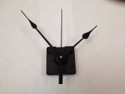 Quartz Clock Movement Kit with 13cm Black Spade Hands for Dials up to 0.6cm