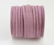 LILAC 3mm x 1.5mm Faux Suede Cord Lace Bracelet Craft Jewellery Making, 5yds Mini Spool