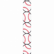 Offray Grosgrain Sports Craft Ribbon, 2.2cm x 2.7m, Baseball