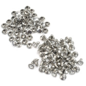 50 Sets Punk Rock Bling Rhinestone Studs Rivets For DIY Bags Shoes Clothes New