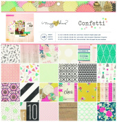 Crate Paper Maggie Holmes Confetti Patterned Paper Pad, 30cm by 30cm