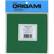Aitoh OG-GR Origami Paper, 15cm by 15cm , Green, 50-Pack