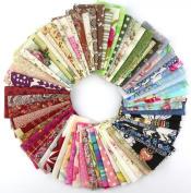50pcs 10*10cm Fabric Patchwork Craft Cotton Material Batiks Mixed Squares Bundle