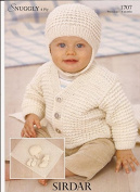 Sirdar Snuggly 4Ply Knitting Pattern 1707 Baby Layette Premature - 6 months