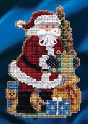Mill Hill Celebration Santas Christmas Ornament Counted Cross Stitch Kit w/ Glass Beads Merry Christmas MH204301