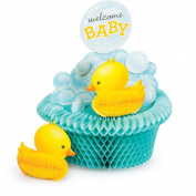 Bubble Bath Baby Shower Honeycomb Shaped Centrepiece