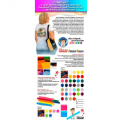"""""""COMBO No.18cm : 5 Yards Siser EasyWeed Heat Transfer Vinyl + 3 Yards Siser Fluorescent Heat Transfer Vinyl (Mix & Match your favourite colours) ."""