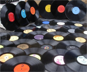 50 Pack Vinyl Records for Crafting LP Albums