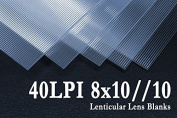 8x10//10 Flip Lenticular Lens Blanks w/ Instructions (Qty