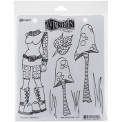 Ranger Dyan Reaveley's Dylusions Cling Stamp Collections, 22cm by 18cm , Shrooms