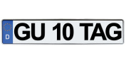Gut 10 Tag Sticker - Funny Bumper Sticker for German Friends and Family. Cute Phrase Played on a German Licence Plate - High Quality Vinyl Sticker/Decal Can Be Used on Car Bumper, Laptop Cover, Door.