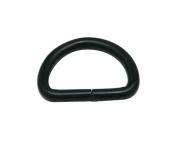 Generic Metal Black D Rings Buckle D-Rings 1.3cm Inside Diameter for Bag Wallet Pack of 100