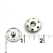 60 Sets of High Quality Sew-on Snaps, 21mm, Silver