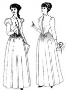 1880-1892 Day Dress Pattern