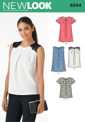 New Look Patterns UN6344A Misses' Tops, A