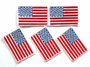 FLAG006 - American Flag Patches - Usa flag Patch - Applique Embroidered patches - Iron on Patches - Backpack Patches - Size 5 x 3 Cm./Pcs --