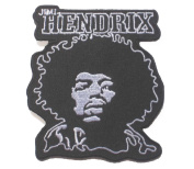 "Jimi Hendrix Guitar hero music Rock Metal sew iron on Patch Badge Embroidery 8x8.5 cm 3.5"" MS-23"