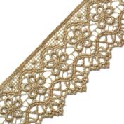 Beige Vintage Cluny Lace Trim, 5.4cm by 1 Yard, STEP-3819