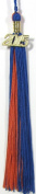 Royal Blue and Orange Graduation Tassel with Gold Charm