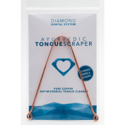 Tongue Scraper Ayurvedic Pure Copper Antimicrobial Tongue Cleaner - Diamond Dental System