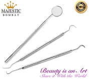 Dental Tartar Scraper and Remover Set Stainless Steel By Majestic Bombay