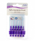 Tepe 1.1 mm Interdent Purple Brushes - Pack of 6