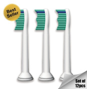 12x Generic Philips Sonicare Proresults HX6014 Compatible With DiamondClean, FlexCare, FlexCare+, HealthyWhite, Sensitive, EasyClean Replacement Brush Heads - ★Best Seller★ MaxgateTM Extra Strong, Clean Feeling, Extra Comfort, Top Quality - 100% Sa ..