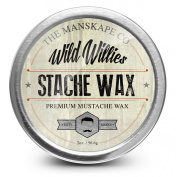 Wild Willie's Moustache Wax - The Only Hard Wax with 7 Natural Organic Ingredients for All Day Hold While Treating Your Moustache at the Same Time. Every Batch Made By Hand Weekly in the USA. From Our Family To Yours.