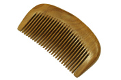 Beard Comb, Moustache Comb, Medium Tooth Comb, Handmade Green Sandalwood Hair Comb - WC073