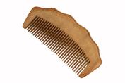 Beard Comb, Moustache Comb, Medium Tooth Comb, Handmade Red Sandalwood Hair Comb - WC074R