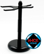 Razor Stand (Black)- Deluxe Chrome Razor Stand, Safety Razor Stand, Shaving Brush Stand, Straight Razor Stand, Boyfriend Gifts, Anniversary Gifts for Him, Husband Gifts, Boyfriend Gifts for Him,