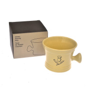 Shaving Mug, Apothecary Style, Cream Porcelain, Fits Up to 100g Shaving Pucks