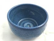 Schöne Pottery Blue Shaving Soap Bowl- Handmade in the USA, Beautiful Gift!