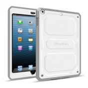 Fintie iPad mini 3/2/1 Case - CaseBot [Tuatara] [Supporting Touch ID] Rugged Unibody Hybrid Full Protective Cover with Built-in Screen Protector and Impact Resistant Bumper, White