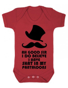Ahh good sir I do believe I have shat in my pantaloons Hipster Baby Playsuit / Bodysuit