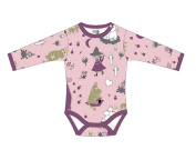 Moomin Characters Cute Baby Boys / Girls Romper, Bodysuit, Jumpsuit with Long Sleeves. Age 3 - 24 M