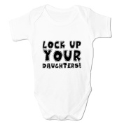 Bang Tidy Clothing Baby Boy's Lock Up Your Daughters Rompersuit